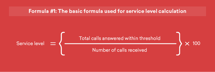 basic formula for service level calculation