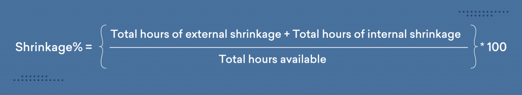 call center shrinkage calculation formula for agent