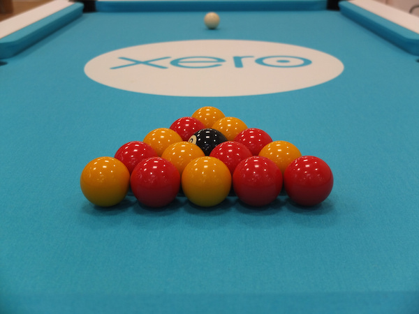 The Xero team loves playing pool