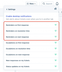 Setting up support ticket response reminders in Freshdesk