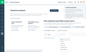 Proactive outreach for Shopify
