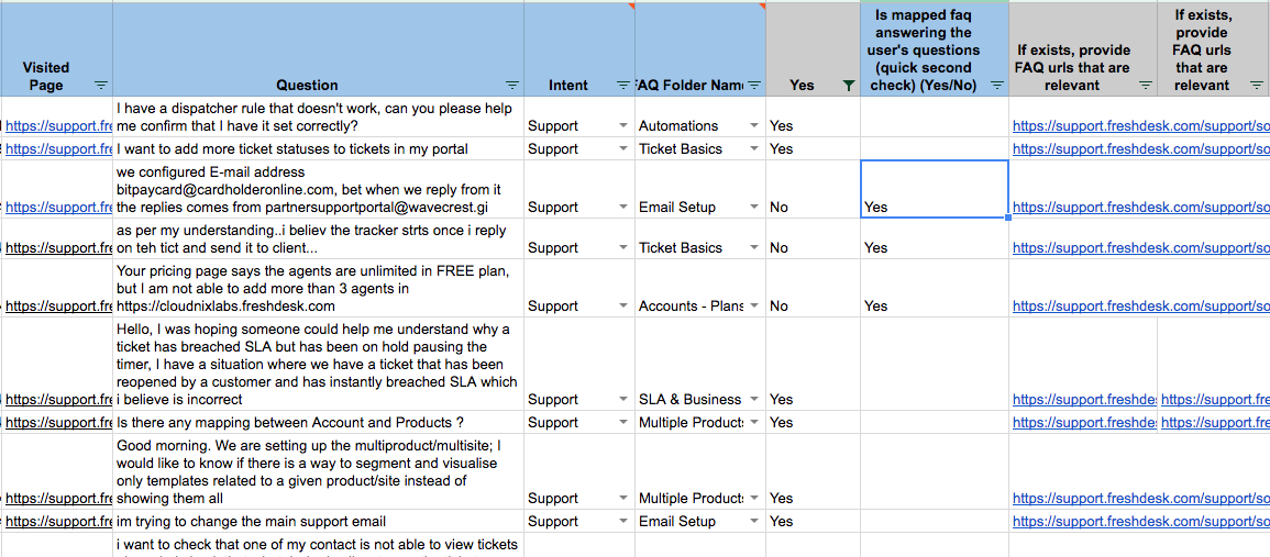 training the bot