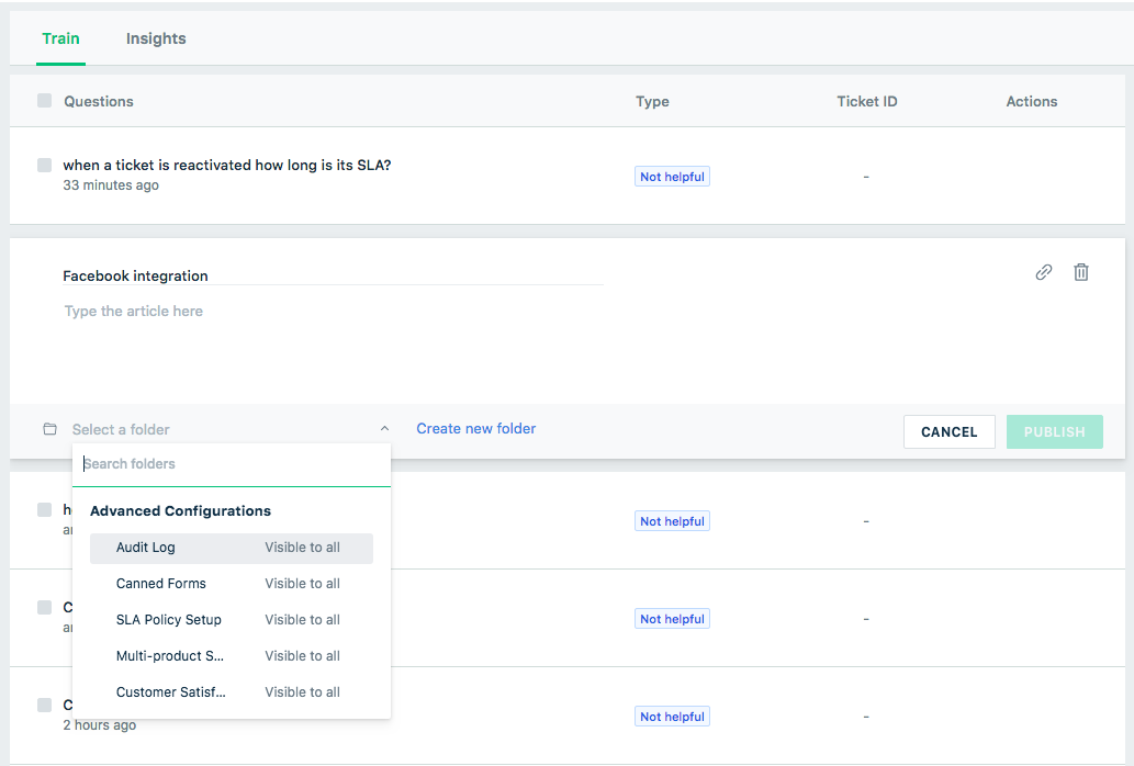 manually training the bot