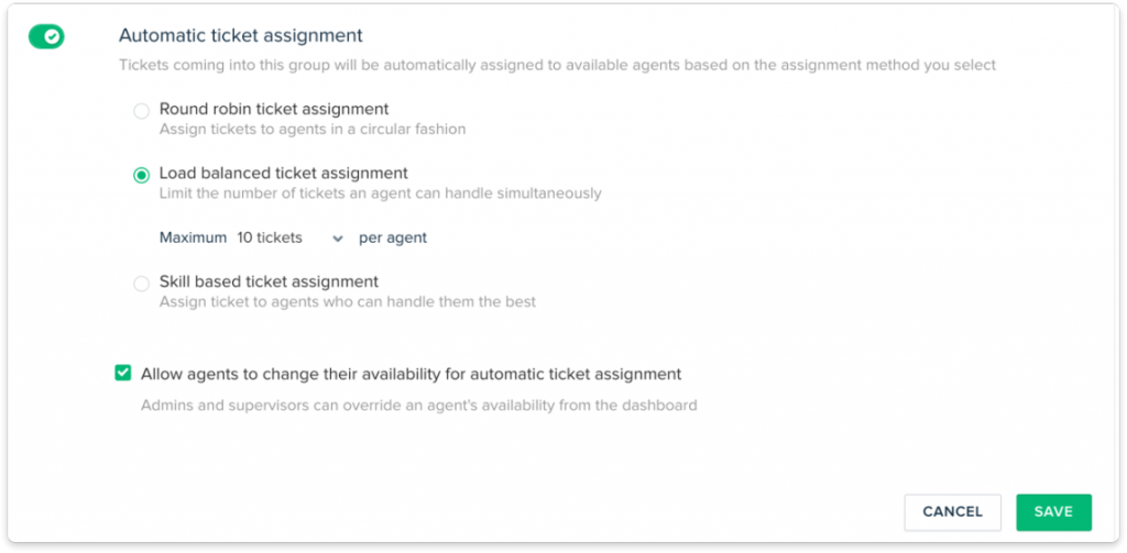 Freshdesk ticket assignment