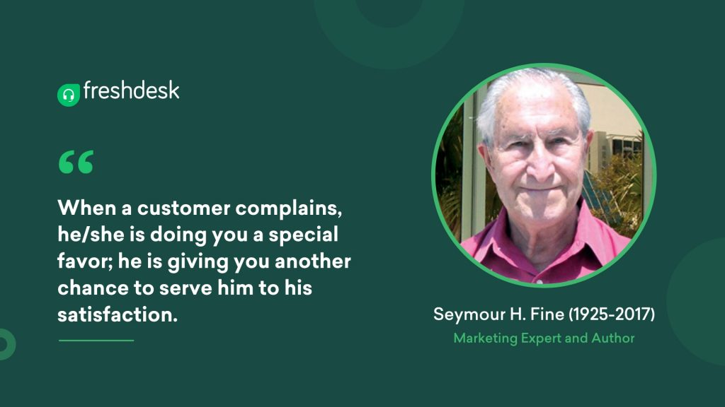 Seymour H. Fine - Customer Service Quotes