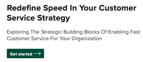 need for speed in your customer service strategy