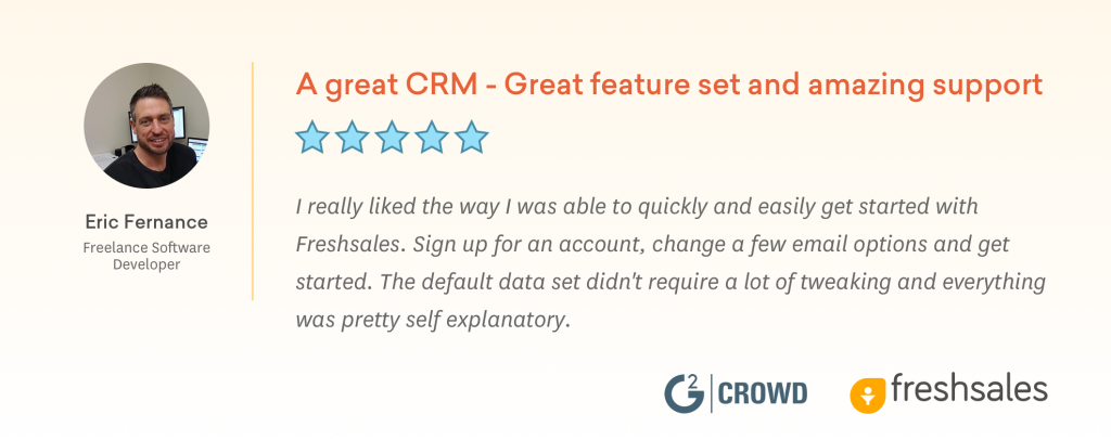 CRM for Small Business - Amazing Support