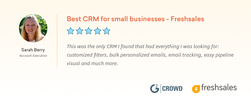 Best CRM for Small Business - Freshsales