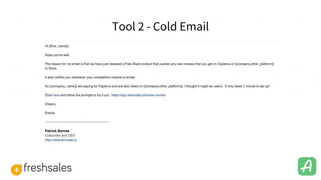 Going from 0-100 signups: Cold Email