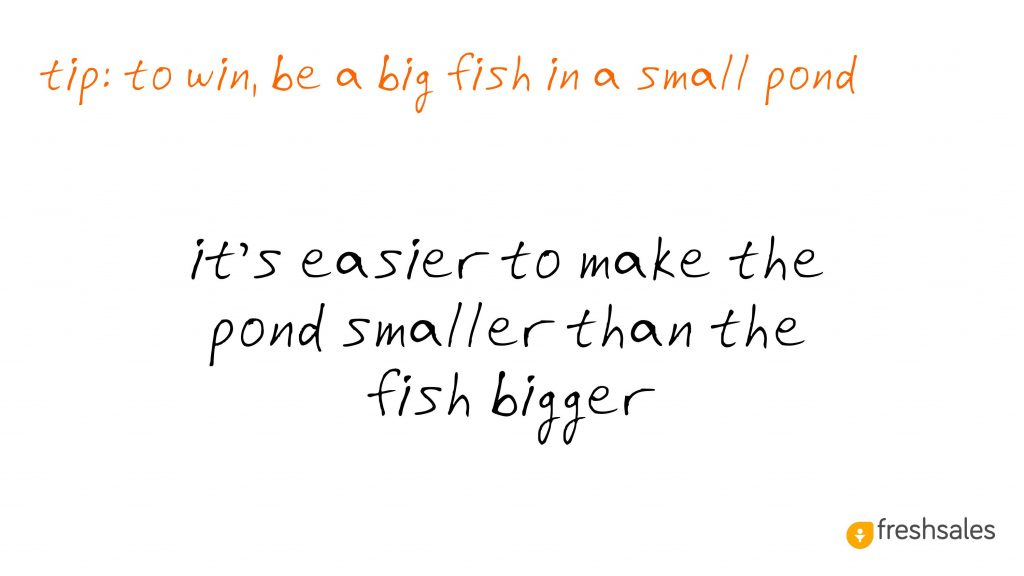 Predictable Revenue: Be a big fish in a small pond
