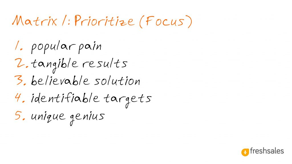 Predictable Revenue: Prioritize