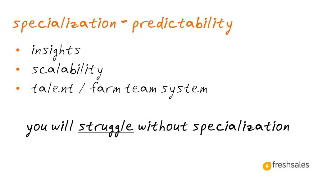 Predictable Revenue: Specialization = Predictability