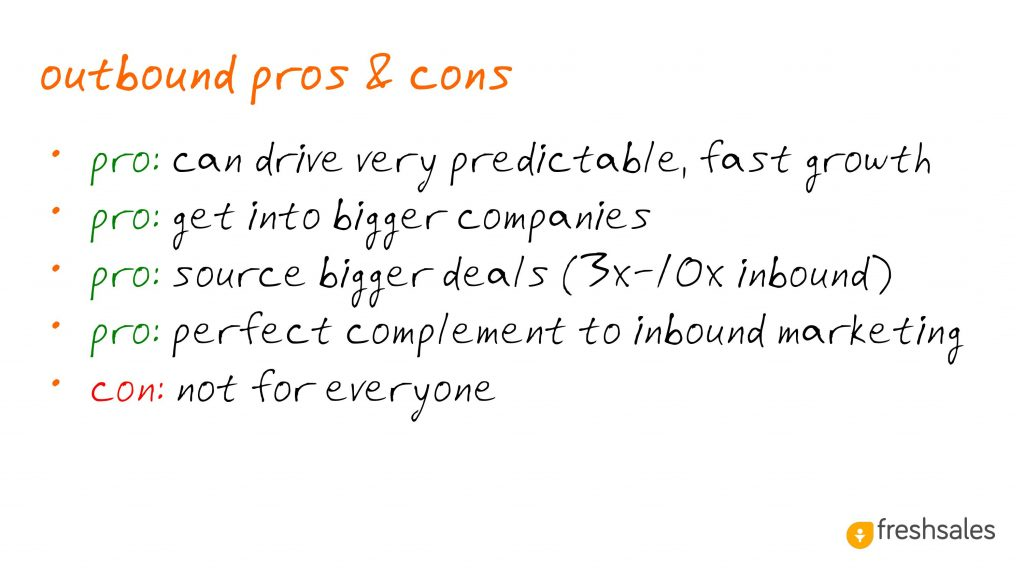 Predictable Revenue: Outbound Pros & Cons