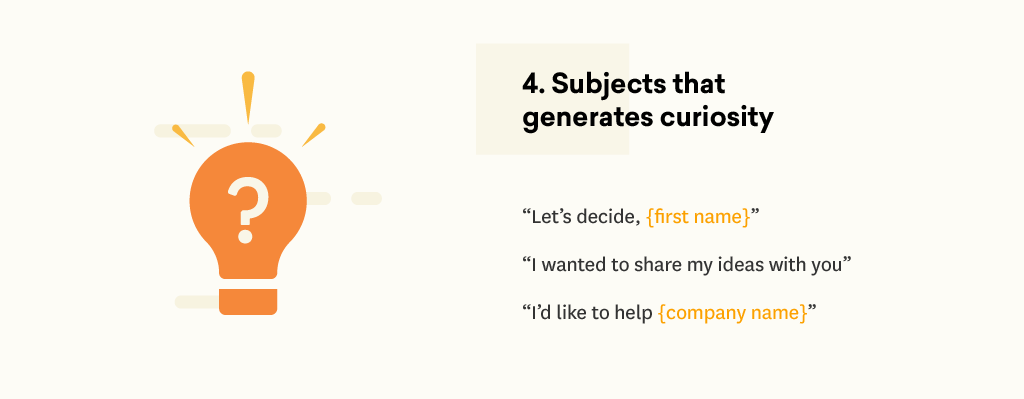 Email subject lines that generate curiosity