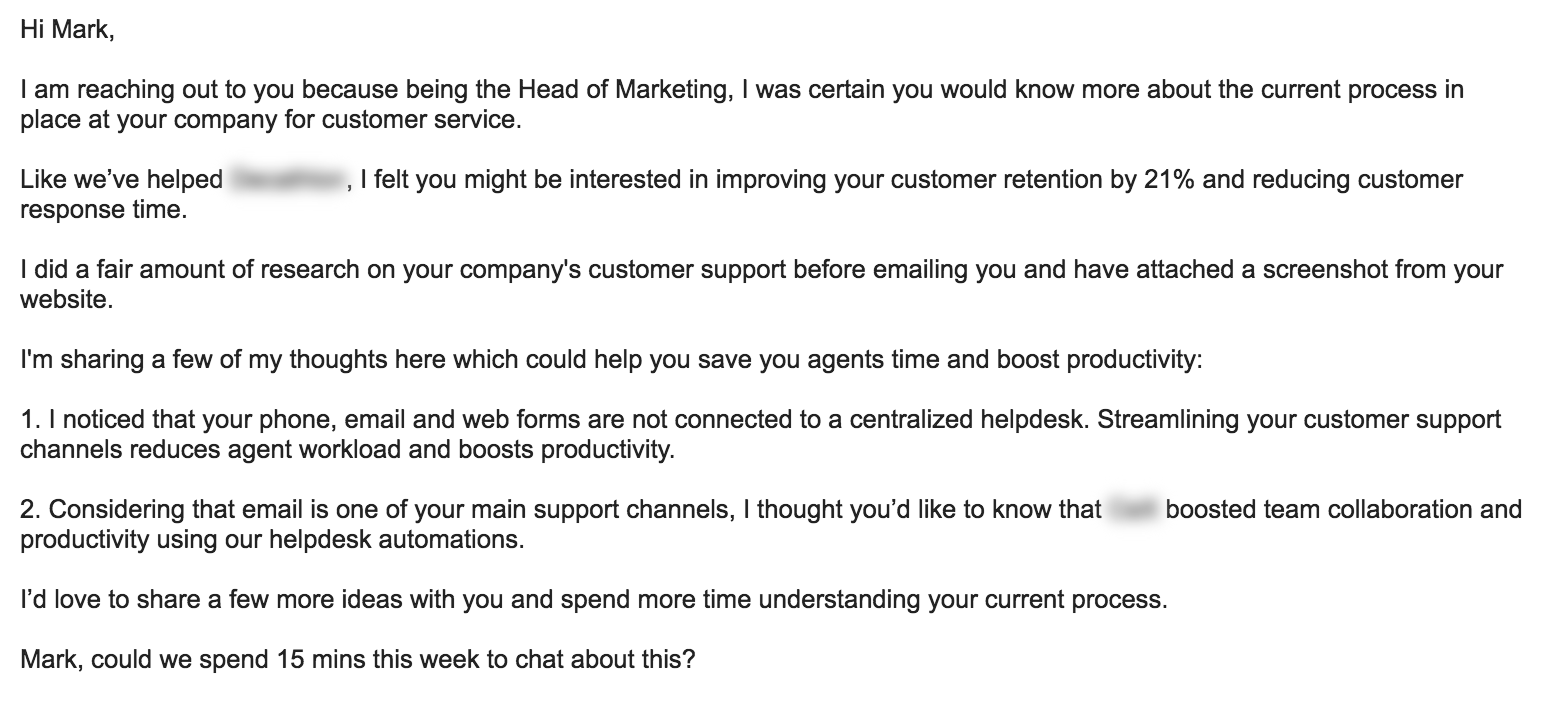 Cold Email Template 7 Cold Email Examples That Guarantee A Response