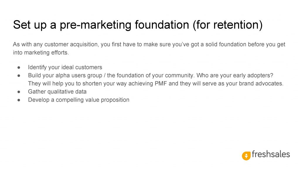 Growth channels to acquire SaaS customers - Set up a pre-marketing foundation