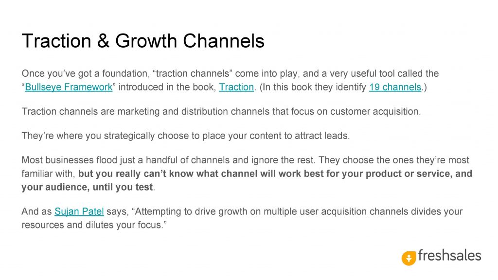 Growth channels to acquire SaaS customers - Traction & Growth Channels