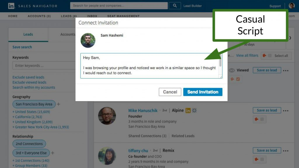 How to generate leads on LinkedIn - Connection Requests