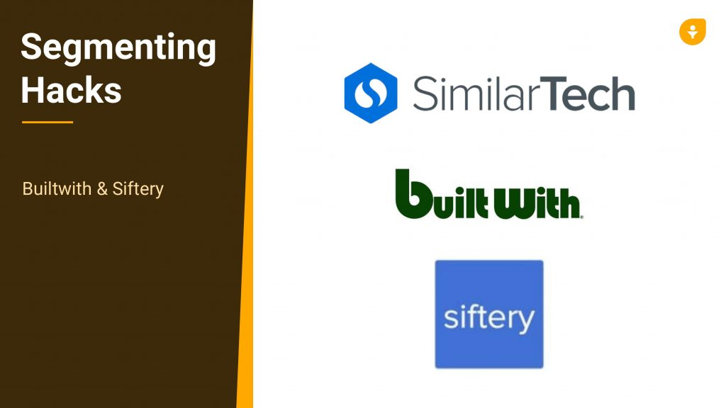 BuiltWith Account-Based Selling SimilarTech Siftery