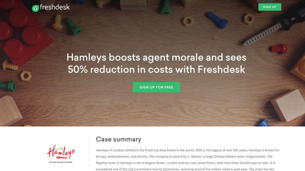 Hamleys Freshdesk Account-Based Selling