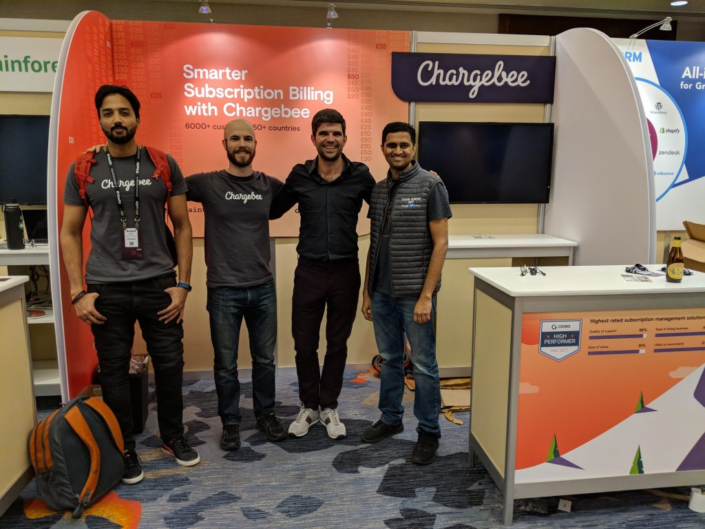 Chargebee Booth at SaaStr 2017