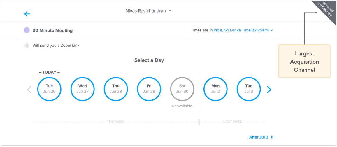 Powered by Calendly Referral Marketing