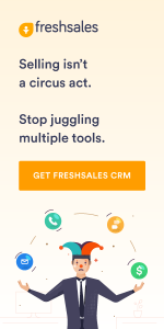 Display ad about Freshsales CRM to generate sales leads