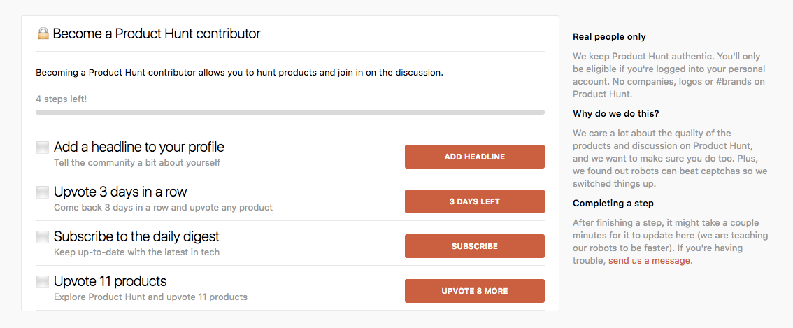 Product Hunt Contributor