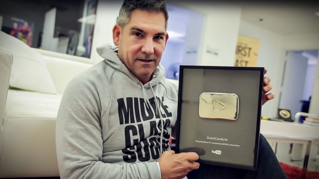 Grant Cardone YouTube 200,000 Subscribers