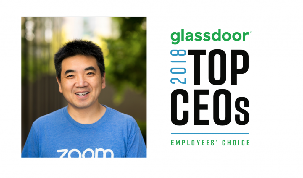 Eric S Yuan named in Glassdoor Top CEOs 2018