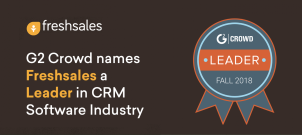 G2 Crowd names Freshsales a Leader in CRM Software Industry
