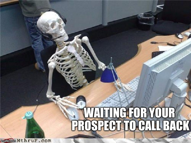 Sales Memes Waiting Skeleton