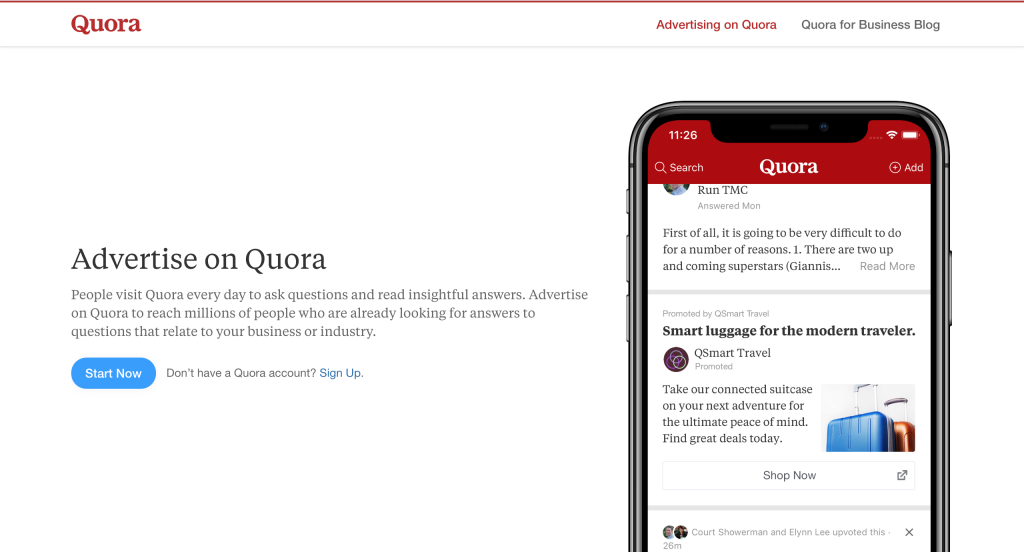 Quora for Business - Advertise on Quora