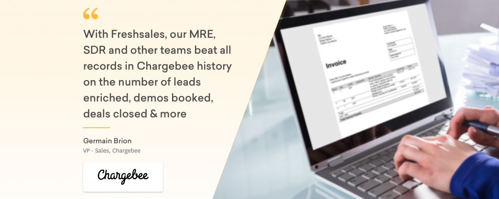 Freshsales CRM Chargebee Banner