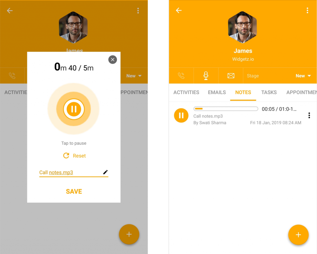 Introducing Voice Notes in Freshsales Mobile Apps