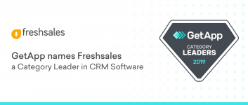 GetApp names Freshsales a Category Leader in CRM Software for the year 2019