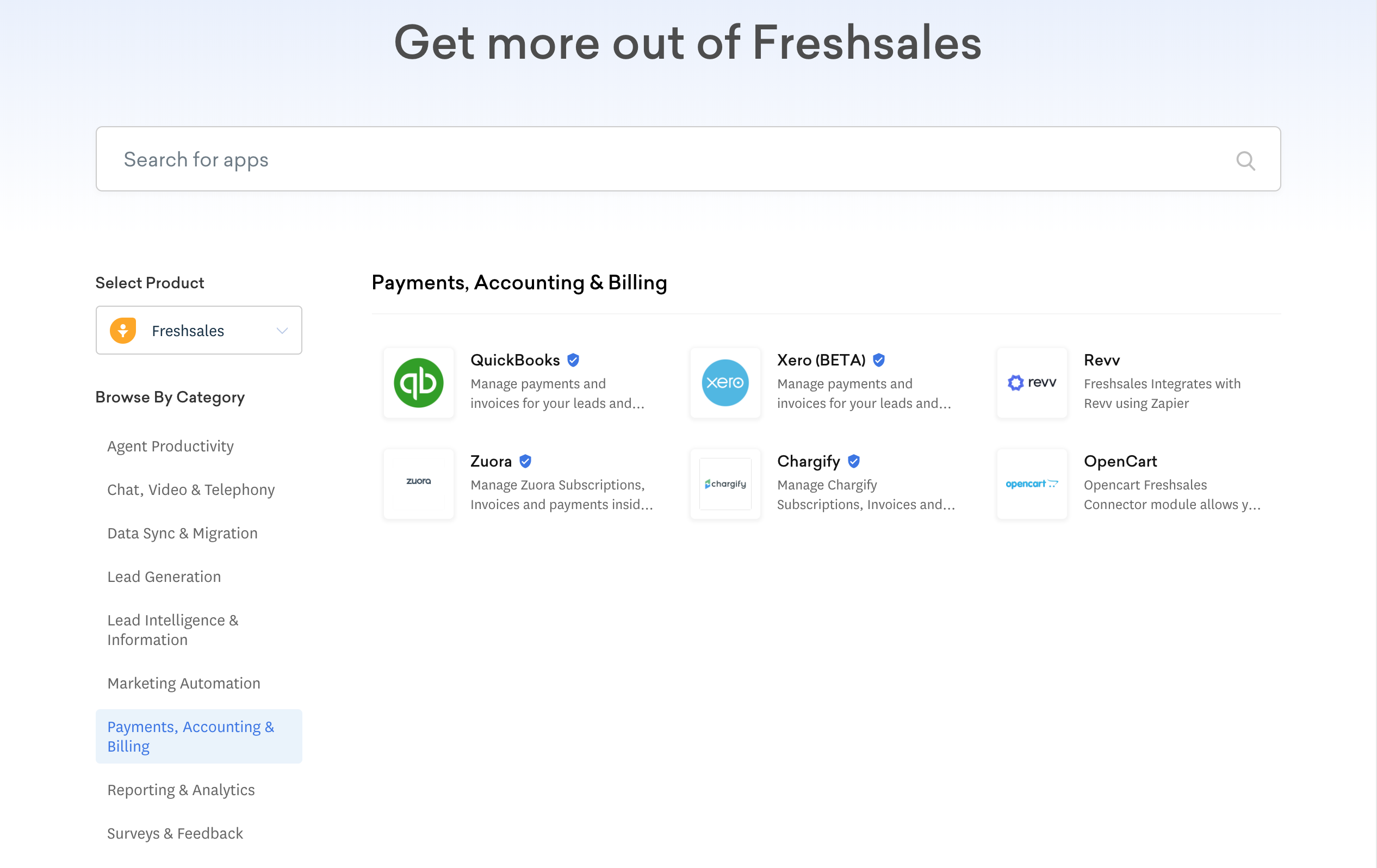 Freshsales Marketplace