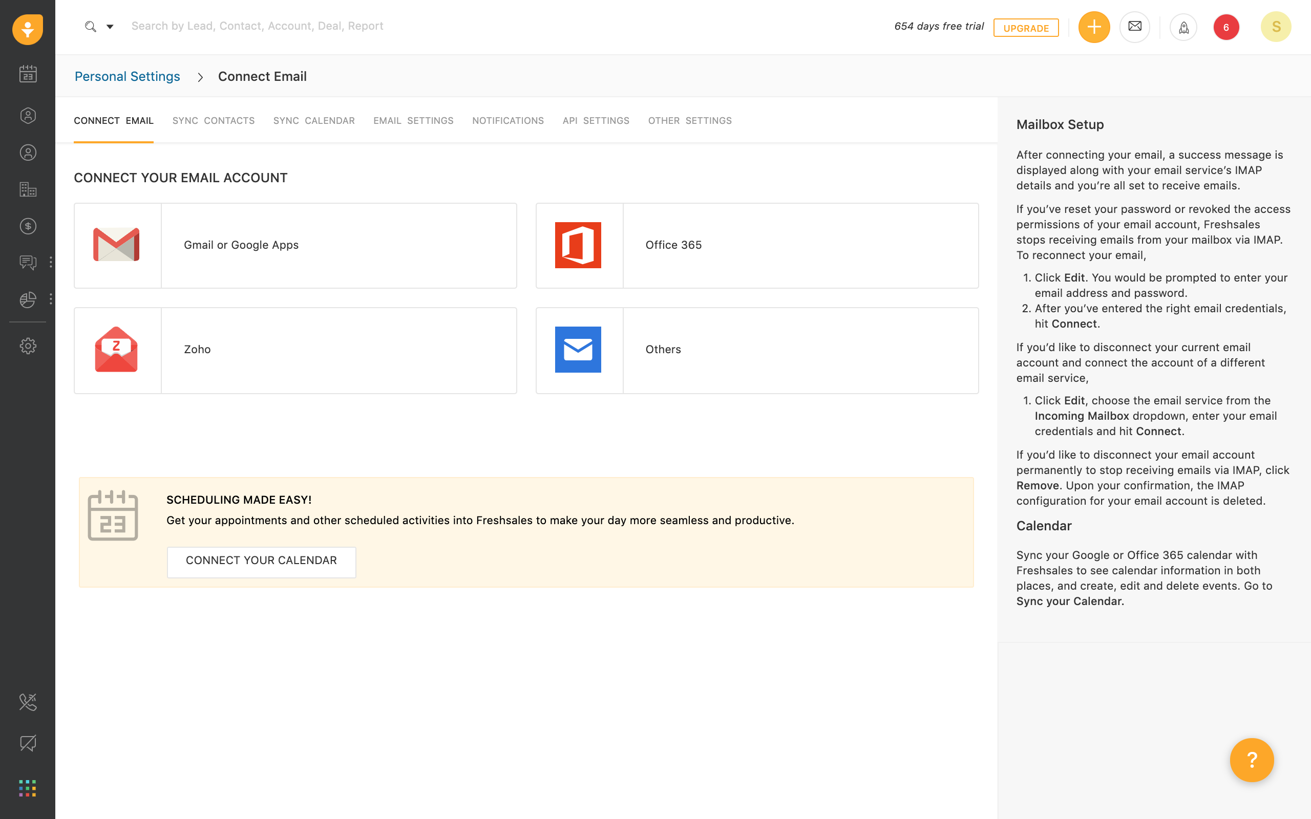 Office 365 integration with Freshsales