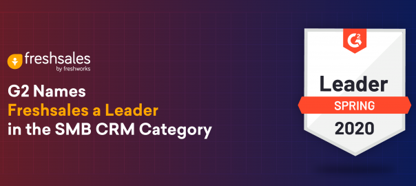 G2 Names Freshsales a Leader in the SMB CRM Category