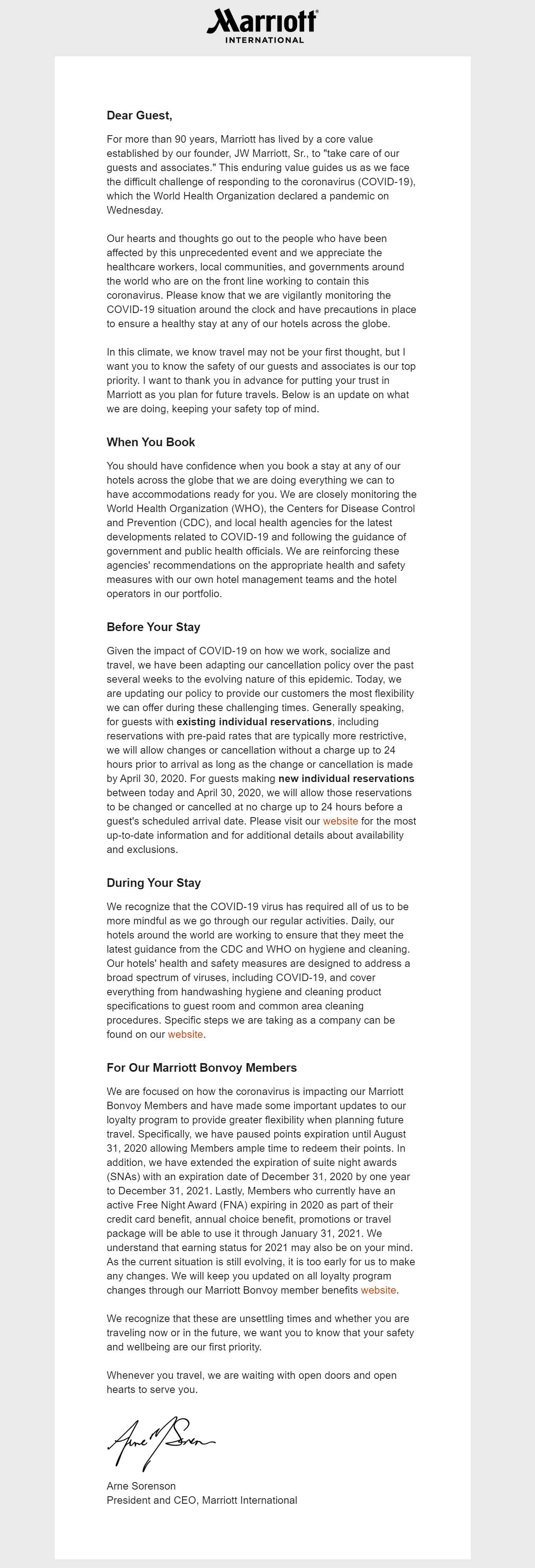 Covid Email template