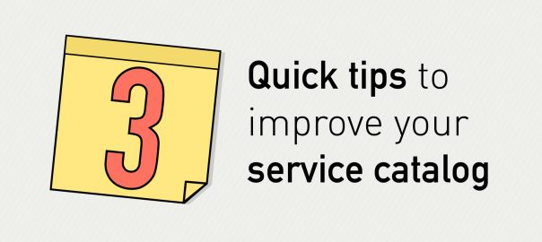 3 quick tips to improve service catalog – Infographic