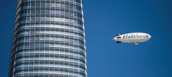 Why we are taking to the skies over San Francisco in a blimp that says #Failsforce
