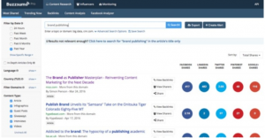 BuzzSumo-content search