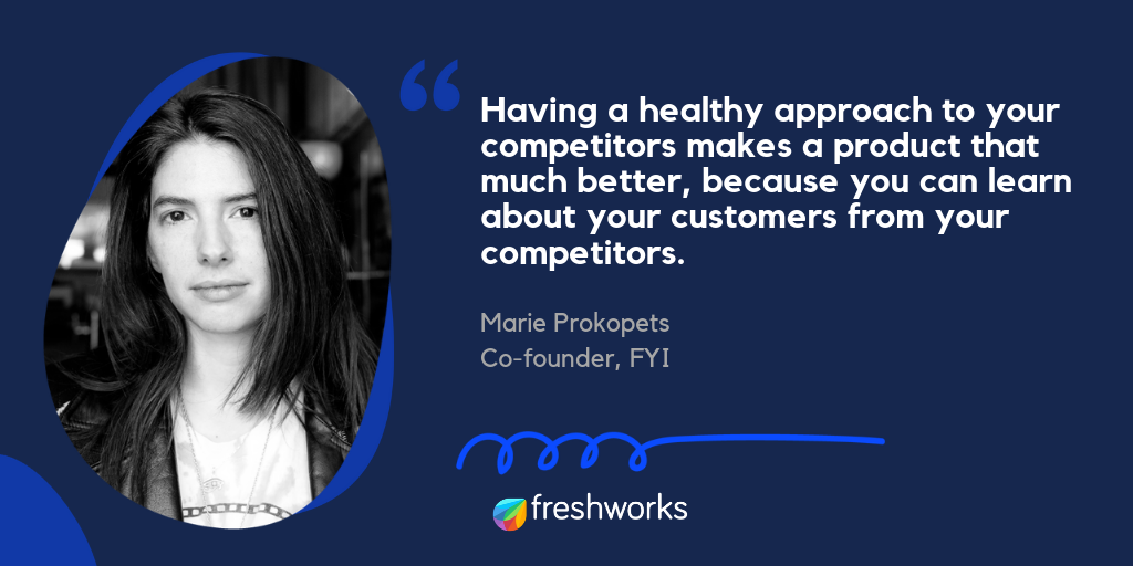 Marie on competitor analysis