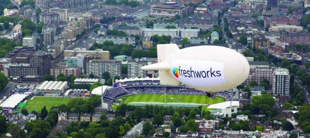 Why we flew a blimp in London during the ICC Cricket World Cup finals