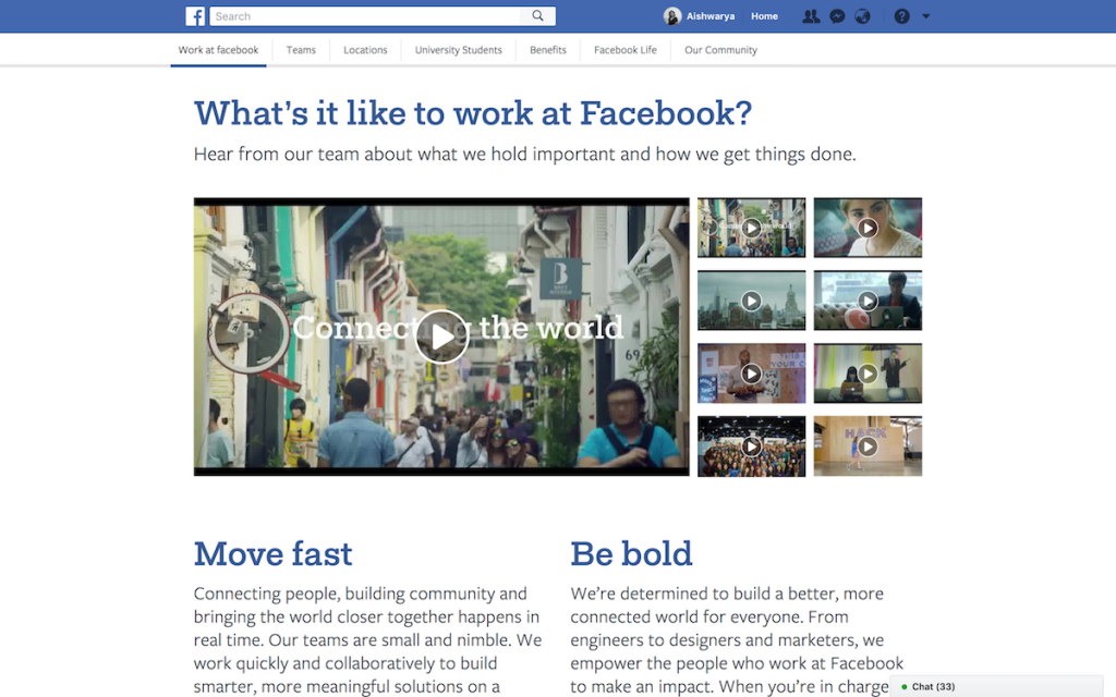 Facebook focuses on diversity by showcasing videos from different offices