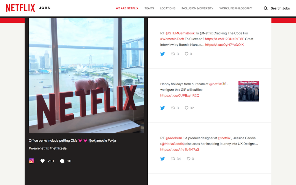 Netflix uses social media to lay the trap for reluctant candidates