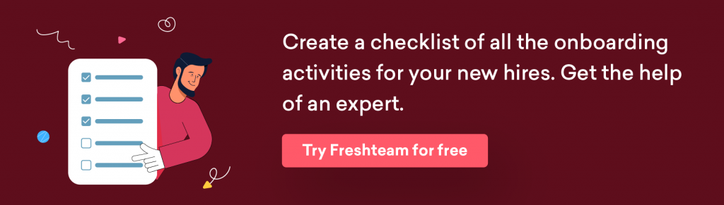 Plan your onboarding training activities better with a Freshteam checklist