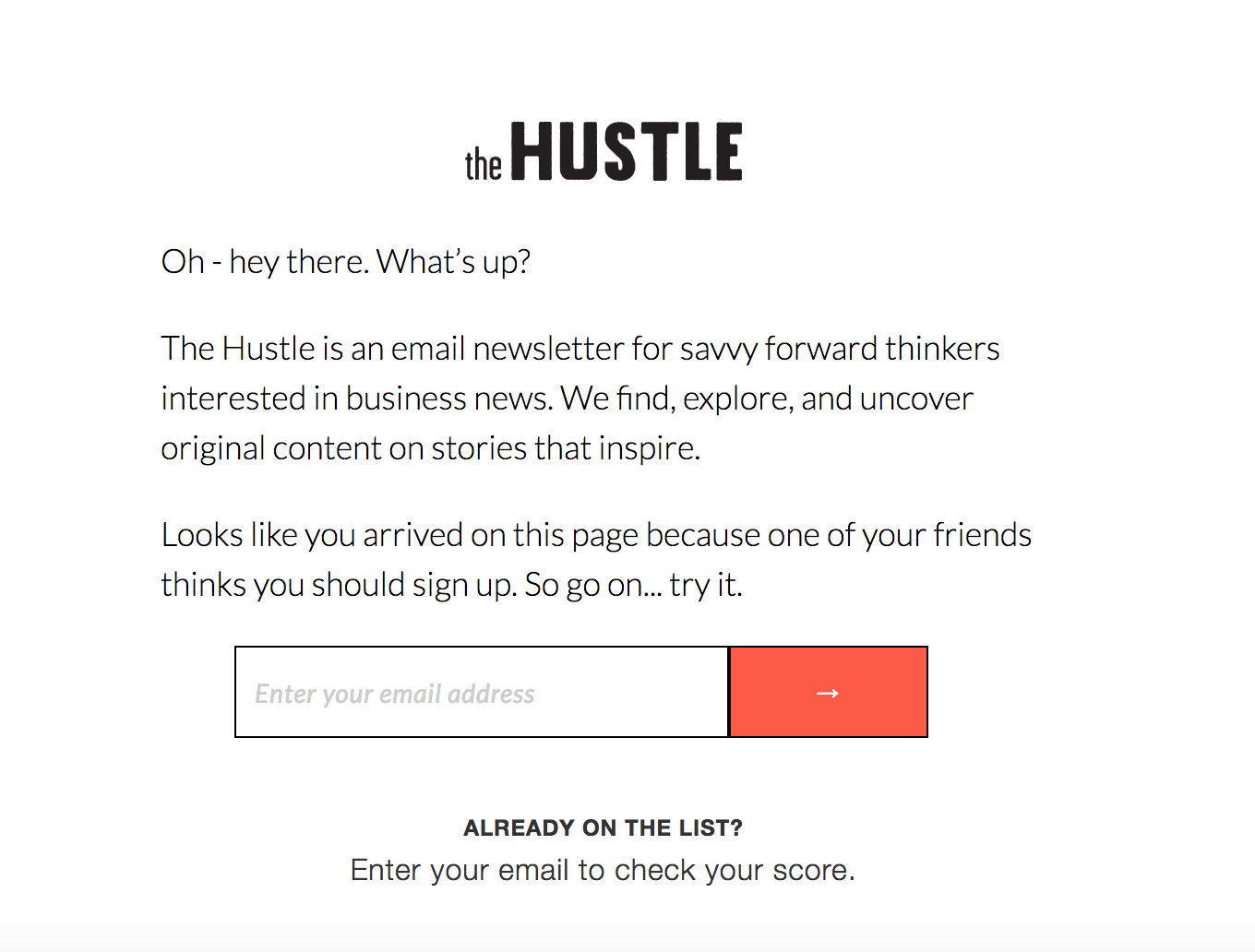 The Hustle social referral Freshchat blog