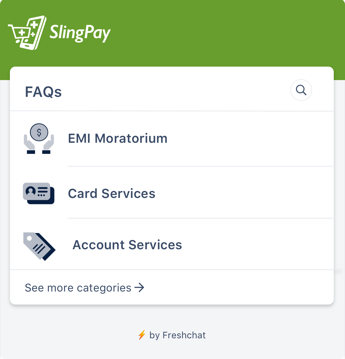 SlingPay FAQs powered by Freshchat